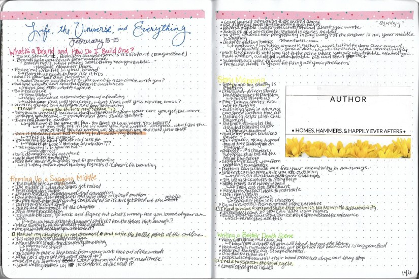 Notes Page in Bullet Journal